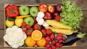 dieta vegetariana - frutas y verduras